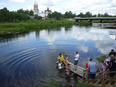 Крещение в Пежме, июль 2013