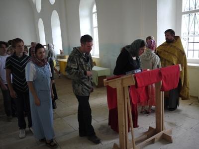 Богослужение в Пежме, июль 2013